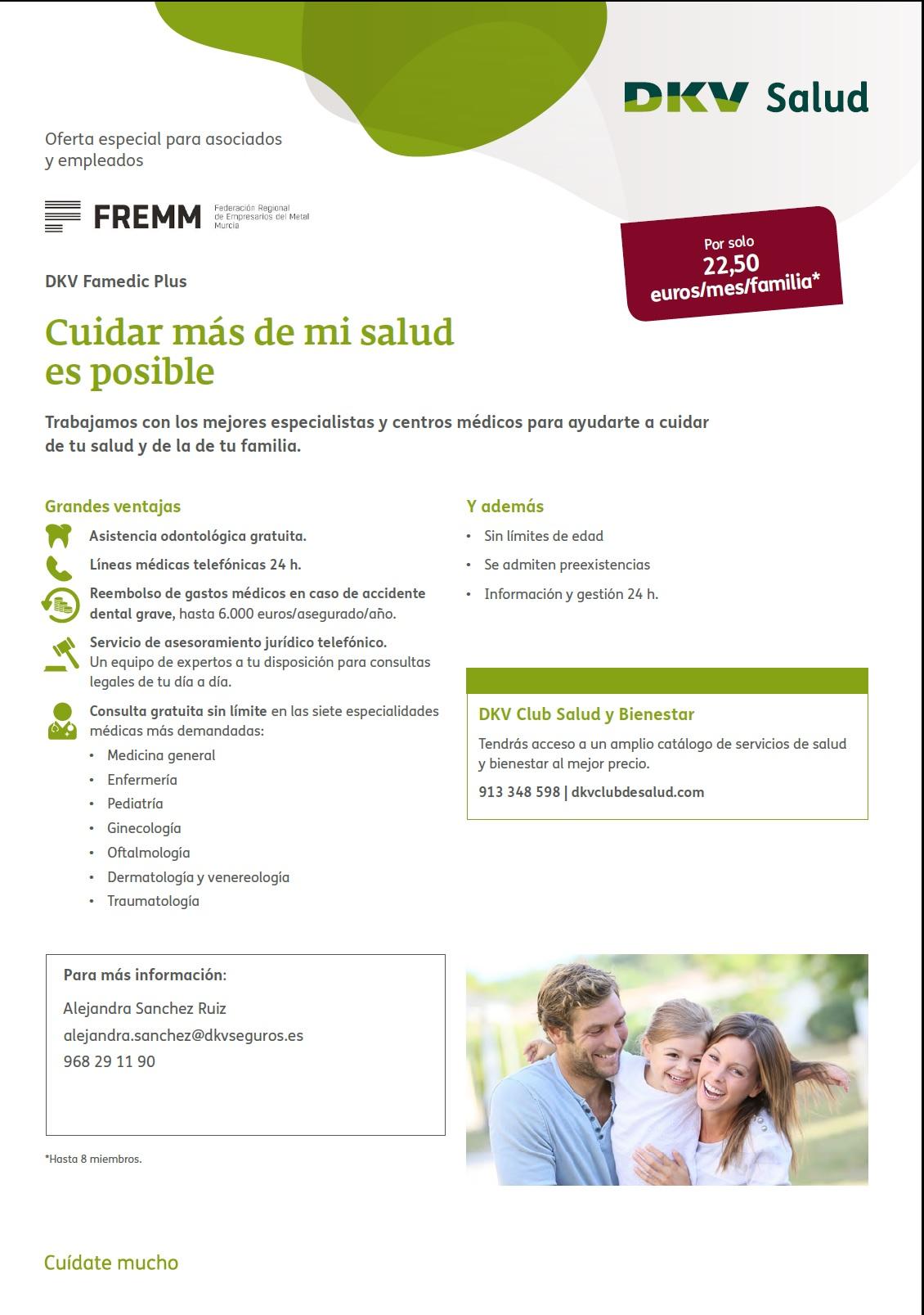 DKV Salud ofrece descuentos a las empresas asociadas a FREMM