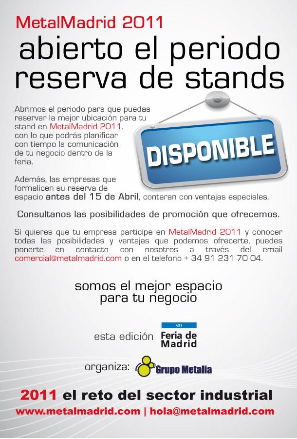 MetalMadrid 2011: Abierto el periodo de reservas de Stands
