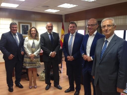 FREMM y Conaif presentan el congreso nacional de instaladores al consejero de Desarrollo Económico y al alcalde de Murcia