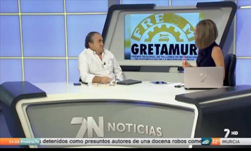 Defensa de los talleres legales del presidente de Gretamur en La 7 TV