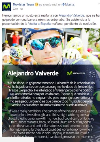 Ante el accidente de Alejandro Valverde, AFIPA recuerda que las puertas automáticas son seguras