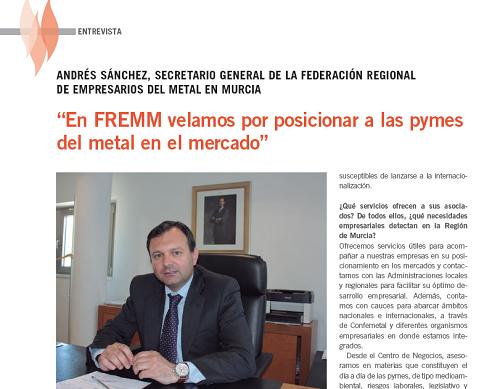 Tecnifuego entrevista a Andrés Sánchez para saber cómo FREMM ayuda a las pymes a posicionarse en el mercado