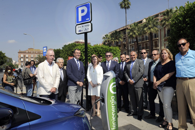 FREMM cede a Murcia un punto de recarga para vehículos eléctricos público y gratuito