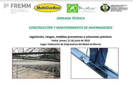 FREMM mostrará cómo cubrir de seguridad la construcción y mantenimiento de los invernaderos