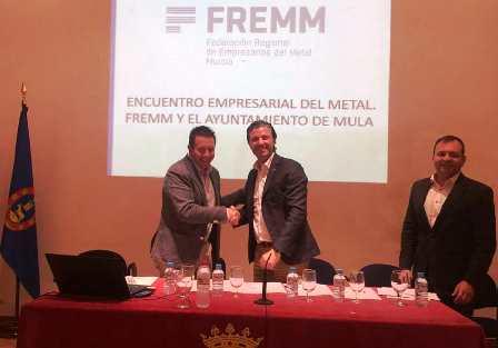 Alianza del Ayuntamiento de Mula y FREMM en favor de las pymes y el empleo