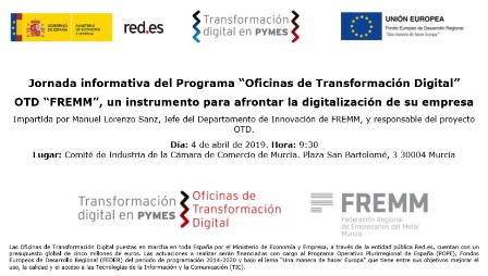 FREMM presenta a la Cámara de Comercio de Murcia la Oficina de Transformación Digital