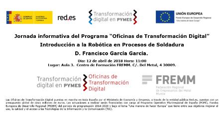 La Oficina de Transformación Digital analiza la aplicación de la robótica en soldadura