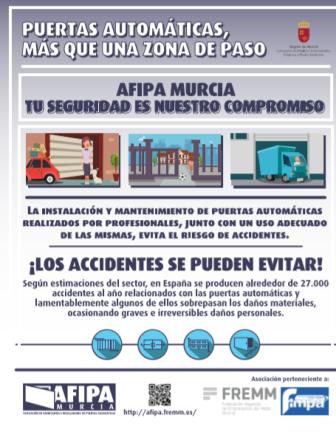 Decálogo de AFIPA sobre seguridad en puertas automáticas