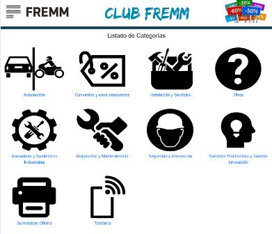 El Club FREMM divide por categorías las ofertas para facilitar la compraventa