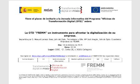 FREMM presenta en Cartagena la Oficina de Transformación Digital, abierta a todas las empresas
