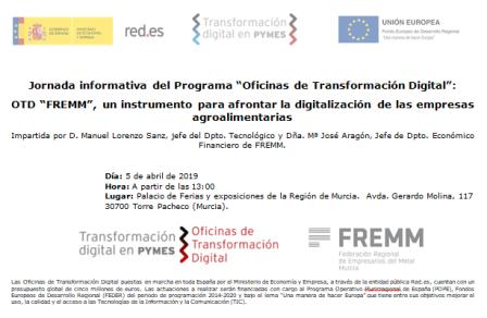 La Oficina de Transformación Digital se presenta en FAME Innowa a las empresas agroalimentarias