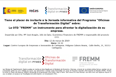 FREMM presenta a las empresas innovadoras de Cartagena la Oficina de Transformación Digital