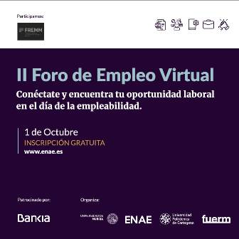 FREMM participará en el II Foro de Empleo Virtual el 1 de octubre