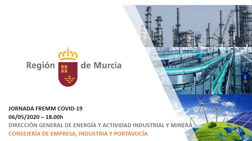 """Documentación Videoconferencia D.G.Energía """"Plan de Desescalada, previsiones en la CCAA Murcia"""" 06/05/2020"""