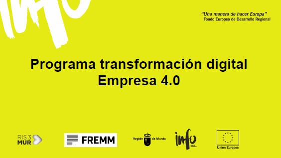 Jornada Virtual Ayuda a fondo perdido del INFO para transformación Digital de las Empresas de la Región de Murcia