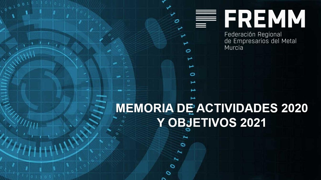 Memoria de Actividades 2020 Objetivos 2021